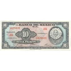 Mejico 10 Pesos. 1965. 07-02. SC. PIK. 58 k