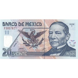 Mejico 20 Pesos. 2001. 17-05. SC. PIK. 116 a