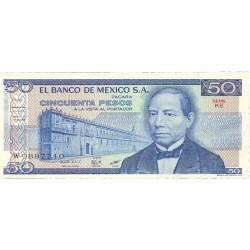 Mejico 50 Pesos. 1981. SC. PIK. 73