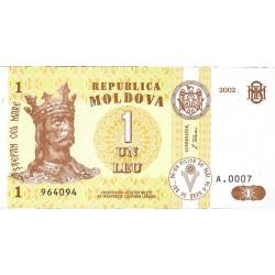 Moldavia 1 Lei. 2002. SC. PIK. 8