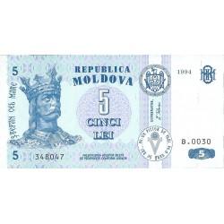 Moldavia 5 Lei. 1994. SC. PIK. 9