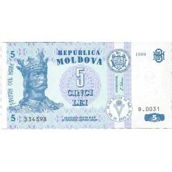 Moldavia 5 Lei. 1999. SC. PIK. 9