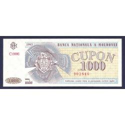 Moldavia 1000 Cupon. 1993. SC. PIK. 3