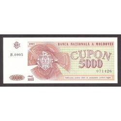 Moldavia 5000 Cupon. 1993. SC. PIK. 4