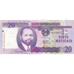 Mozambique 20 Meticais. 2006. SC. PIK. 143