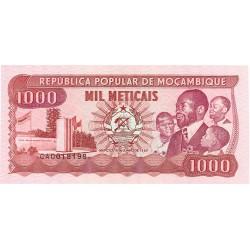Mozambique 1000 Meticais. 1989. 16-06. SC. PIK. 132