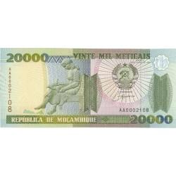 Mozambique 20000 Meticais. 1999. SC. PIK. 140