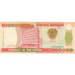 Mozambique 100000 Meticais. 1993. SC. PIK. 139