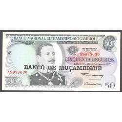 Mozambique 50 Escudos. 1976. SC. PIK. 116