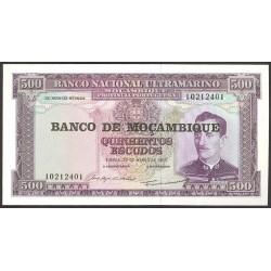 Mozambique 500 Escudos. 1976. SC. PIK. 118 a