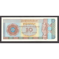 Myanmar-(Burma) 10 Dolar. 1993. SC. PIK. FX.3