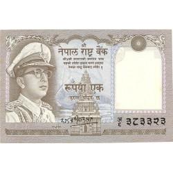 Nepal 1 Rupia. 1972. (s/f). SC. PIK. 16