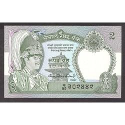 Nepal 2 Rupia. 1981. SC. PIK. 29 a