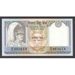 Nepal 10 Rupia. 1985. SC. PIK. 31 a