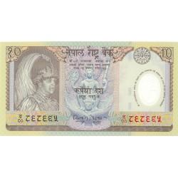 Nepal 10 Rupia. 2002. (s/f). SC. PIK. 45