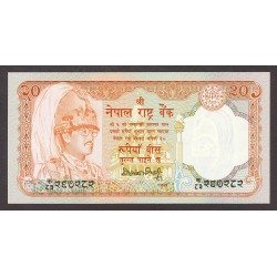 Nepal 20 Rupia. 1988. SC. PIK. 38 a