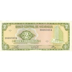 Nicaragua 2 Cordoba. 1972. SC. PIK. 121 a