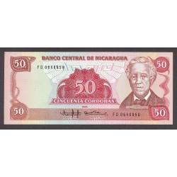 Nicaragua 50 Cordoba. 1985. SC. PIK. 153
