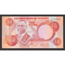 Nigeria 10 Naira. 1984. SC. PIK. 25 c