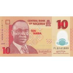 Nigeria 10 Naira. 2009. SC. (Polymero). PIK. 39