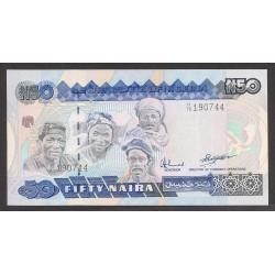 Nigeria 50 Naira. 1984. SC. PIK. 27 b