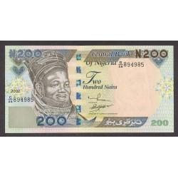 Nigeria 200 Naira. 2000. SC. PIK. 29 a