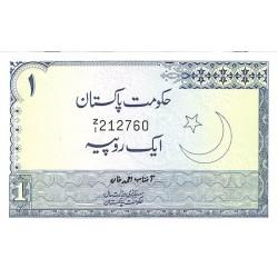 Pakistan 1 Rupia. 1975. SC. (Agujeritos de grapa). PIK. 24 A