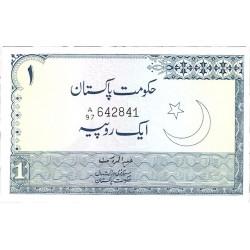 Pakistan 1 Rupia. 1975. (s/f). SC. (Habibullad Baig). (Agujeritos de grapa normal en esta emision). PIK. 24 A