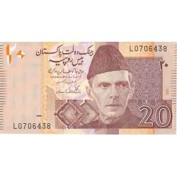 Pakistan 20 Rupia. 2005. SC. PIK. Nuevo