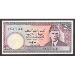 Pakistan 50 Rupia. 1986. SC. (Agujeritos de grapa). PIK. 40
