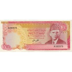 Pakistan 100 Rupia. 1976. (s/f). SC. Agujeritos de grapa. PIK. 31