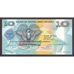 Papua Nueva Guinea 10 Kina. 1988. SC. PIK. 9 b
