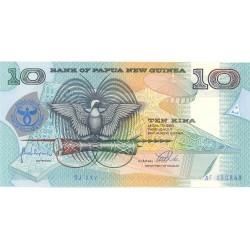 Papua Nueva Guinea 10 Kina. 1998. SC. ESCASO/A. PIK. 17