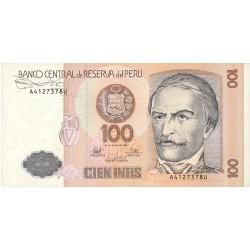 Peru 100 Intis. 1987. 26-06. EBC-/EBC. PIK. 133