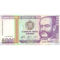 Peru 5000 Intis. 1988. 28 Junio. EBC+/SC-. PIK. 137