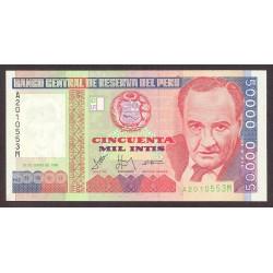Peru 50000 Intis. 1988. SC. PIK. 142