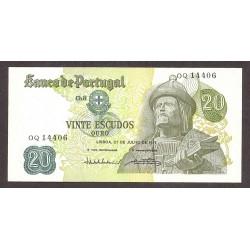 Portugal 20 Escudos. 1971. EBC+/SC-. (Nuevo con lev.doblez que no afecta). PIK. 173