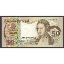 Portugal 50 Escudos. 1968. EBC+/SC-. (Nuevo con lev.doblez que no afecta). PIK. 174 a