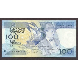 Portugal 100 Escudos. 1988. SC-. (Nuevo con muy lev.doblez que no afecta). PIK. 179 -F