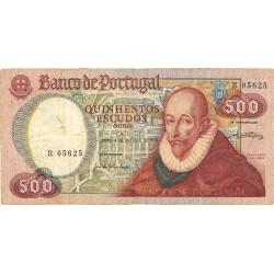 Portugal 500 Escudos. 1979. 4 Octubre. MBC-. (Serie R)-(F.Sanches). Usado pero entero. PIK. 177