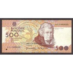 Portugal 500 Escudos. 1992. MBC-. (Dobleces y rugosidades). PIK. 180 d