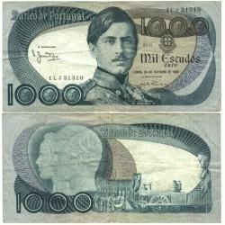 Portugal 1000 Escudos. 1982. 25 Octubre. MBC-/MBC. (Serie ILJ-D.Pedro V). Marcas de usado. PIK. 175 e