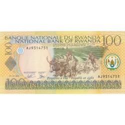 Ruanda 100 Francos. 2003. 01-05. SC. PIK. 29