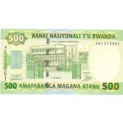 Ruanda 500 Francos. 2004. 01-07. SC. PIK. 30