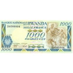 Ruanda 1000 Francos. 1988. 01-01. SC. PIK. 21
