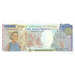 Ruanda 5000 Francos. 1988. 01-01. SC. PIK. 22