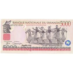 Ruanda 5000 Francos. 1998. SC. PIK. 28