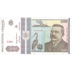 Rumania 200 Lei. 1992. Diciembre. SC. PIK. 100