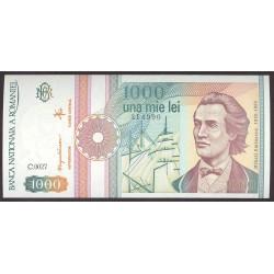 Rumania 1000 Lei. 1991. SC. PIK. 101 -A