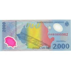 Rumania 2000 Lei. 1999. SC. (Polymer). PIK. 111 a